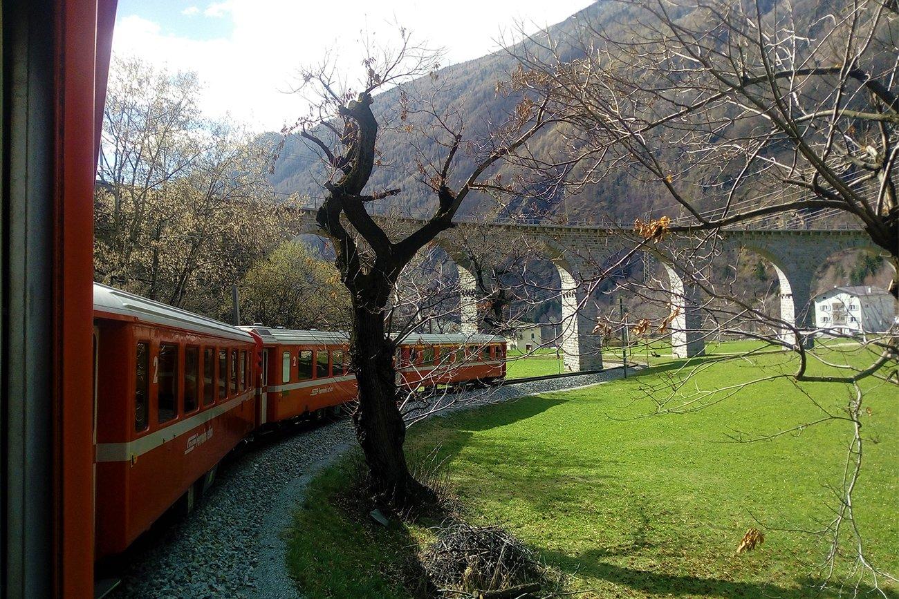 Trenino Rosso del Bernina con i bambini